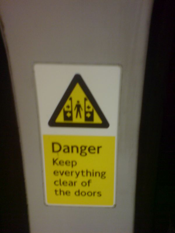 Keep everything clear of the doors