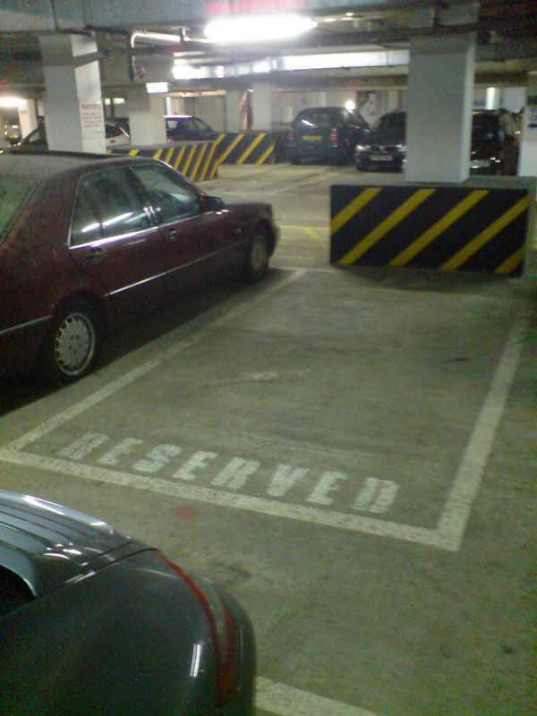 How to secure your personal parking space