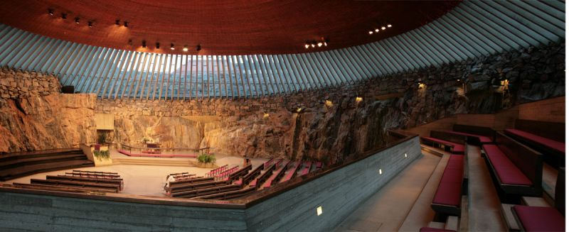 Sunken Rock Church in Helsinki