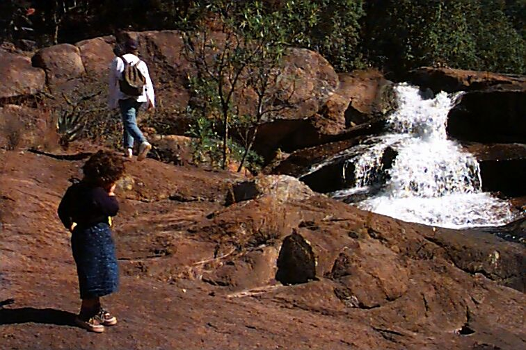 ava by the waterfall