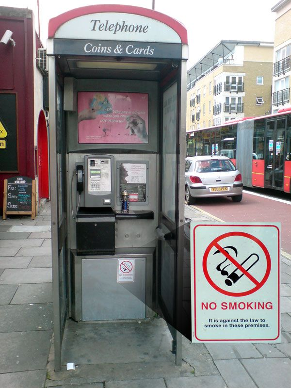 No smoking sticker frenzy