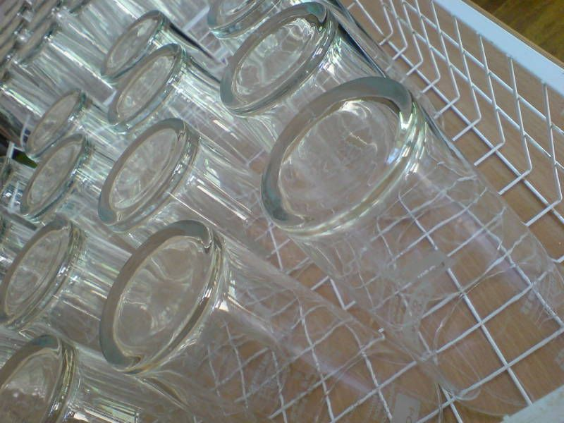 Glasses washed and ready to go